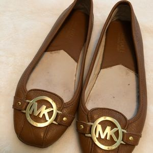 Michael Kors brown leather flats